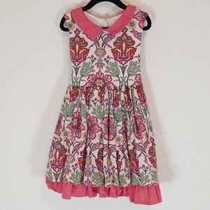 Persnickety 5T 5 Dress Sleeveless Summer Red Cream